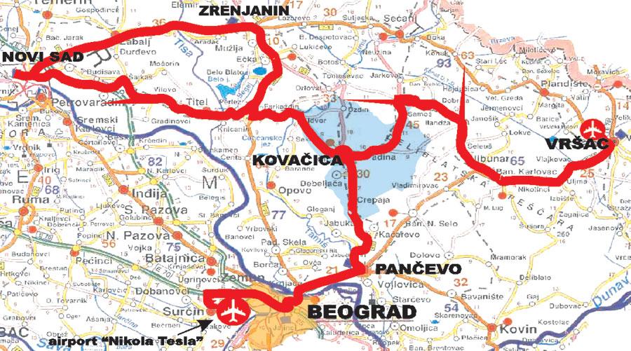 Auto Mapa Vojvodine Mapa Vojvodine